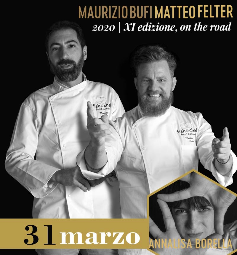 Maurizio Bufi (Villa Giulia*, Gargnano - BS) e Matteo Felter (Il Fagiano del Grand Hotel Fasano, Gardone Riviera - BS)